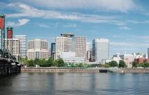 A panorama of Portland, Oregon.