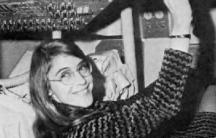 Margaret Hamilton, lead Apollo flight software designer, inside the Command Module. Credit: NASA