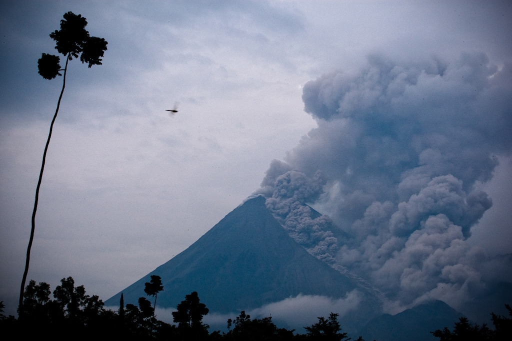 Indonesia Vvolcano Mt Merapi