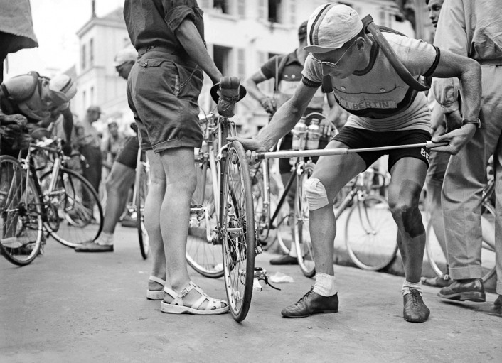 Vintage Tour De France Rider Smoking