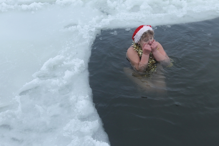 At The Dead Of Winter: Taking the Plunge Into Icy Water ...