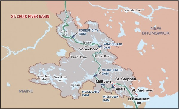 Fish Win Maine AboutFace Lets Alewives Return To Canada Border - Map of maine rivers