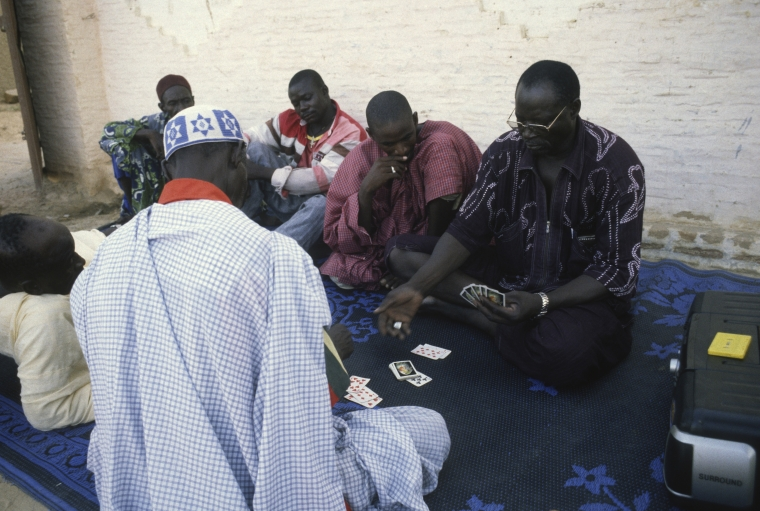Playing cards was one of the past-times Ali Farka Toure enjoyed at his home in Niafunke