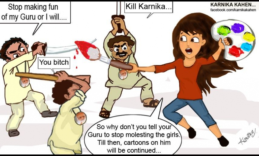 Karnika Kahen The Female Character Created By Indian Woman Cartoonist Karnika Mishra Takes On Rape Sexual Assault And Women S Roles And Meets Opposition In India Along The Way