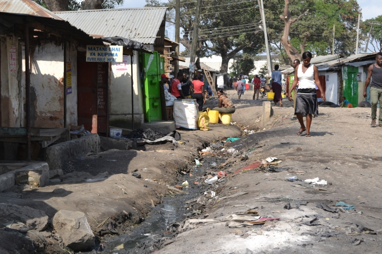 Bangladesh is an informal community on the outskirts of Mombasa, Kenya. Residents say its name comes from the Bangladeshi man who used to own the land. People here live on a little more than a dollar a day, scraping together a living at tiny businesses.