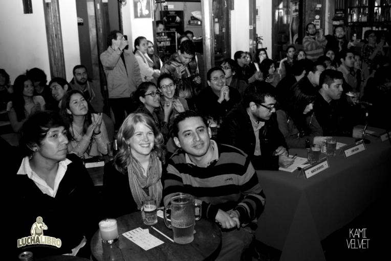 The audience at Lucha Libro in Lima, Peru.