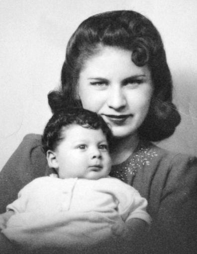 Bea with her son little Albert, circa 1941