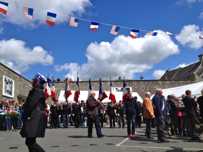 Locals and tourists gathered in the town of La Cambe in Normandy for the unveiling of a commemorative plaque honoring D-Day veterans.