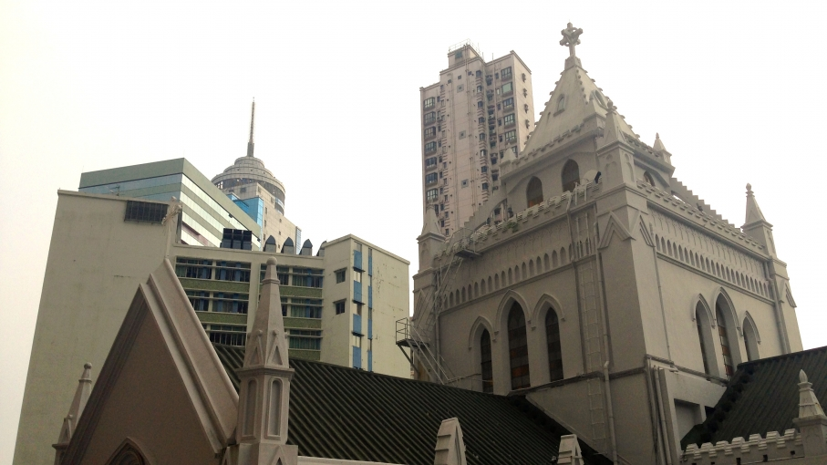 People in Hong Kong are afforded far more religious freedom than those in mainland China. Christian schools are among of the city's biggest and best education providers. The Catholic Cathedral of the Immaculate Conception is shown here.