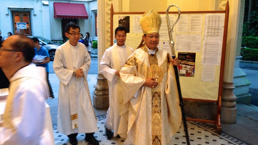 The Archbishop of the Anglican Church in Hong Kong, Paul Kwong, also holds an official position with the Chinese central government. He has discouraged his congregation from taking part in protests.