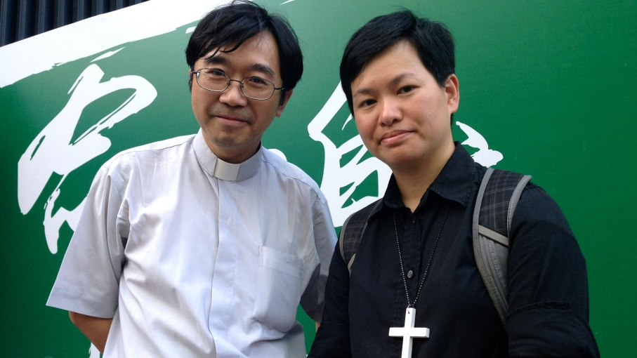 TC Chan and Milton Chang are both Christian pastors who've been visiting Hong Kong protest sites to pray for peace.
