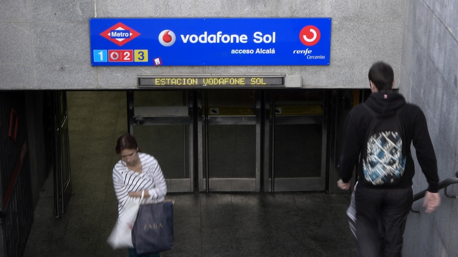 "Madrid has sold its Sol.  Its ""Puerta del Sol"" metro line and historic plaza.  The buyer: British telecom giant Vodafone. The price: about two million dollars for three years. The city is hugely indebted and faces dropping revenues as tourism tanks and un"