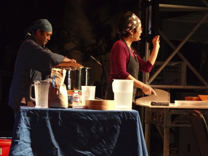 Sonoko Sakai giving soba workshop in Los Angeles.