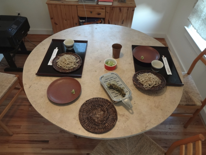 Traditional soba meal.