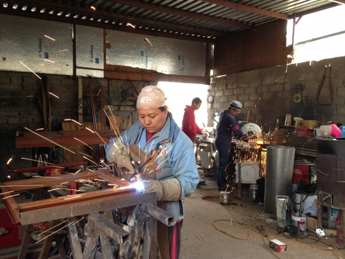 The Chavez Family of Cuidad Juarz started their own welding shop in their backyard thanks to a series of micro-loans partially funded by U.S. tax dollars.