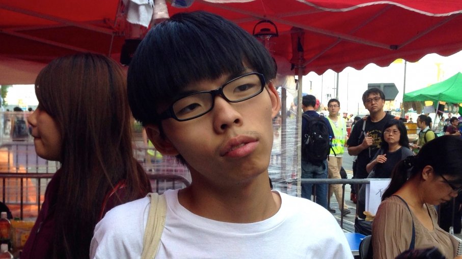 """Joshua Wong is a 17 year-old activist who comes from a Christian family. """"I believe in Christ,"""" he says. """"I believe everyone is born equal and they're loved by Jesus."""""""
