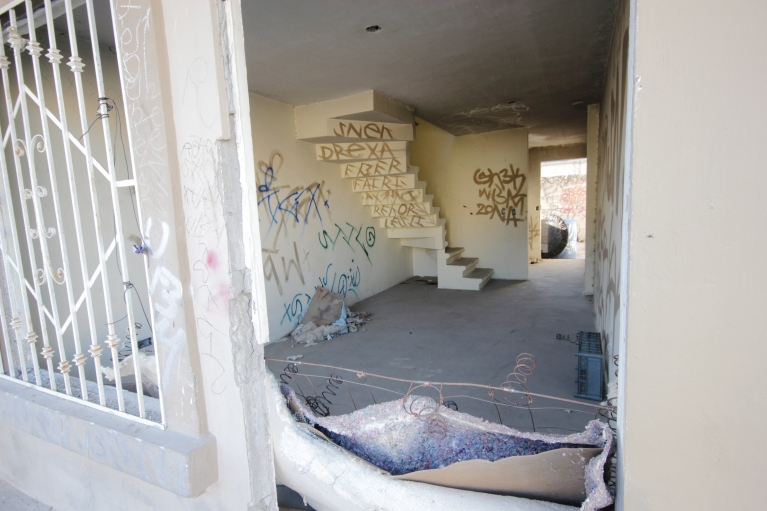 Squatters and delinquents sometimes take over abandoned homes.