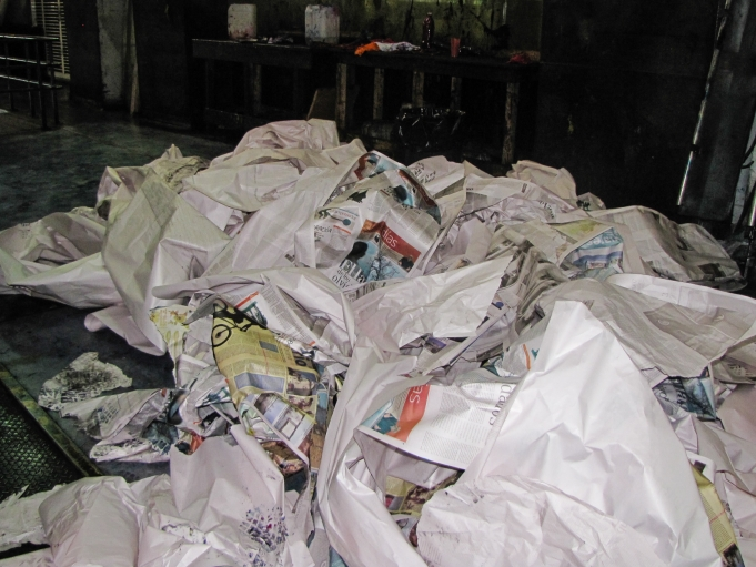 El Nacional's discarded newsprint was once trash, but now it's a desired commodity.