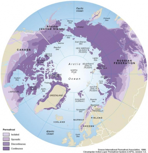 """Permafrost--a layer of permanently-frozen earth just below the surface--covers millions of square miles of land in the far-northern hemisphere. Geologist Vladimir Romanovsky says he expects to see more """"holes"""" like the ones discovered in northern Russia t"""