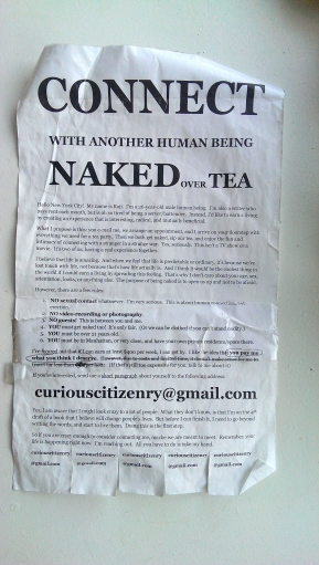 Flyer found by Alina Simone in New York City, late 2013