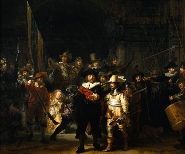 The Night Watch, Rembrandt (1606–1669), Rijksmuseum Amsterdam.