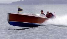 Olympic reject motor boat