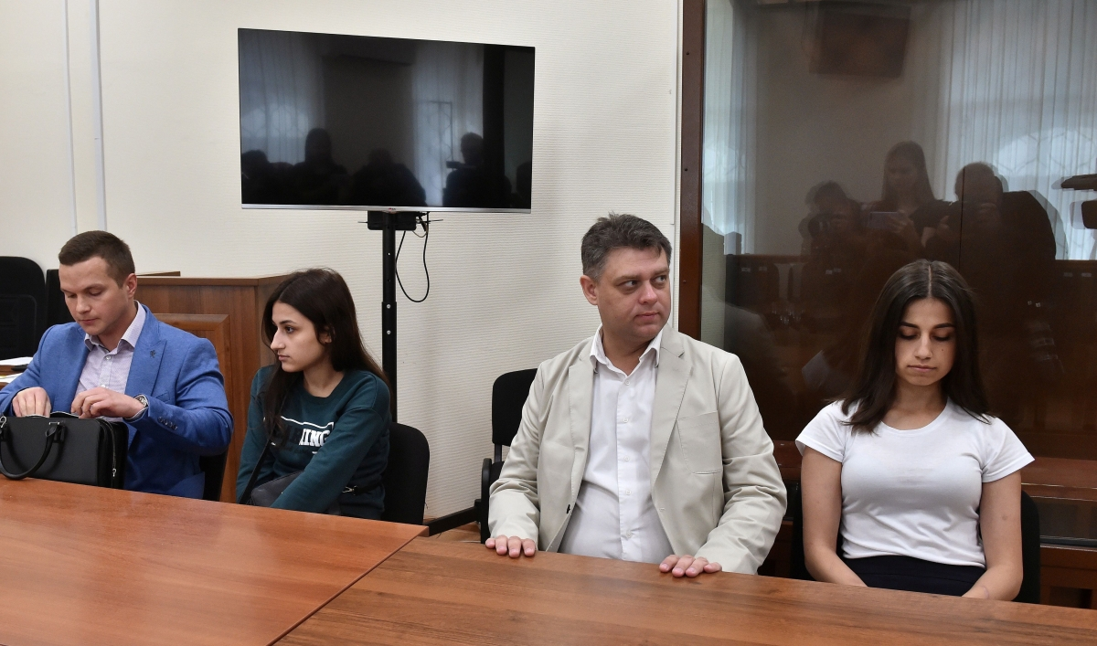 Image result for images of Russian sisters who killed their father for sexually abusing them, to face trial