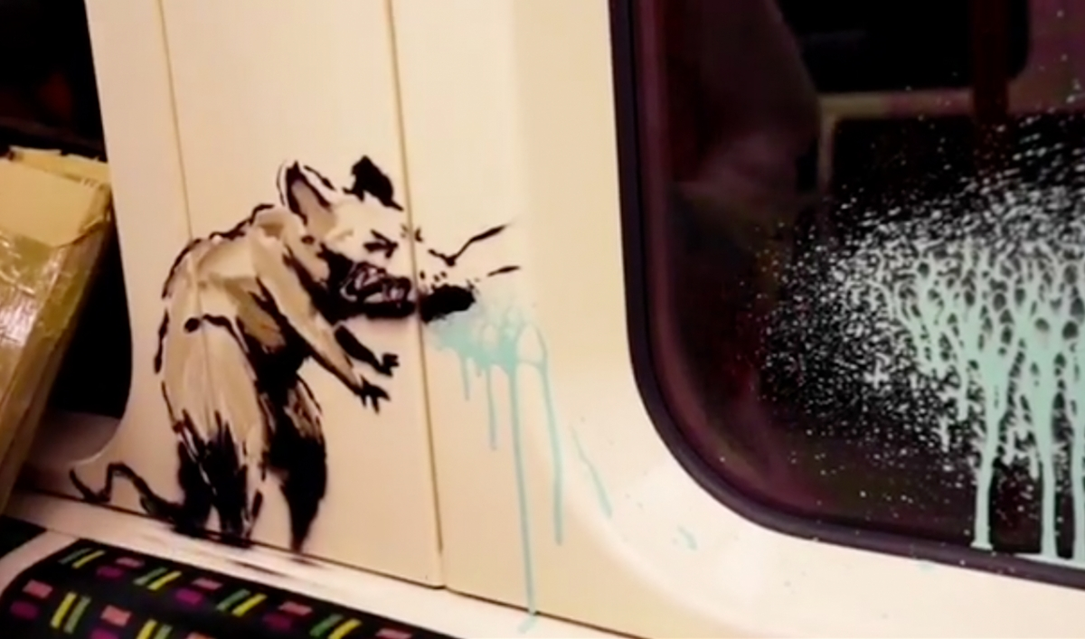 Banksy unveils new pandemic-inspired art featuring rats in face masks