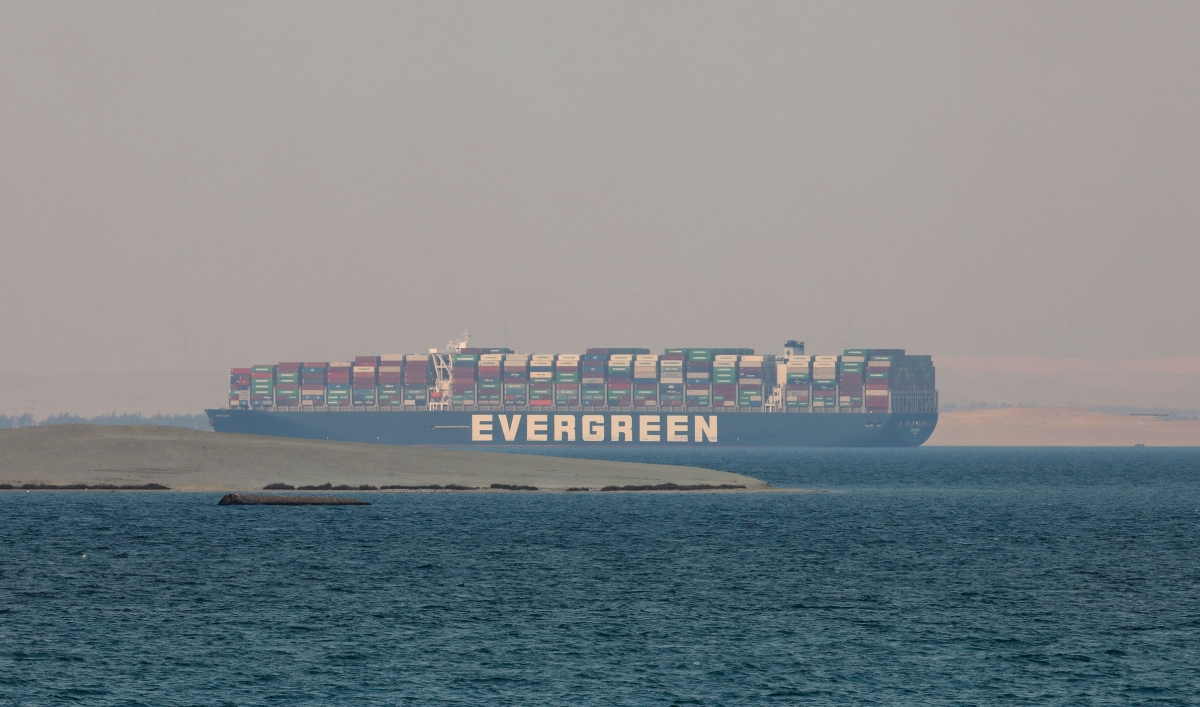 The massive Ever Given container ship impounded amid financial dispute