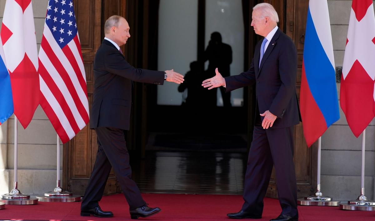 Biden and Putin begin face-to-face talks in Geneva