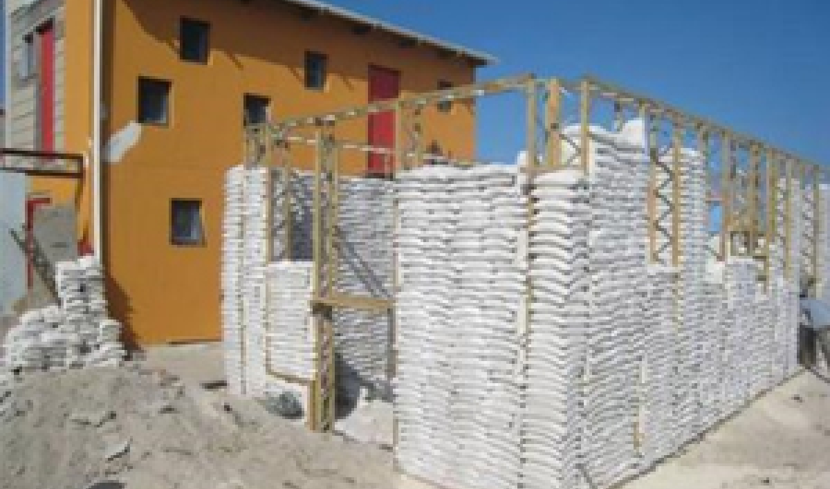 Sandbag Housing In South Africa Public Radio International