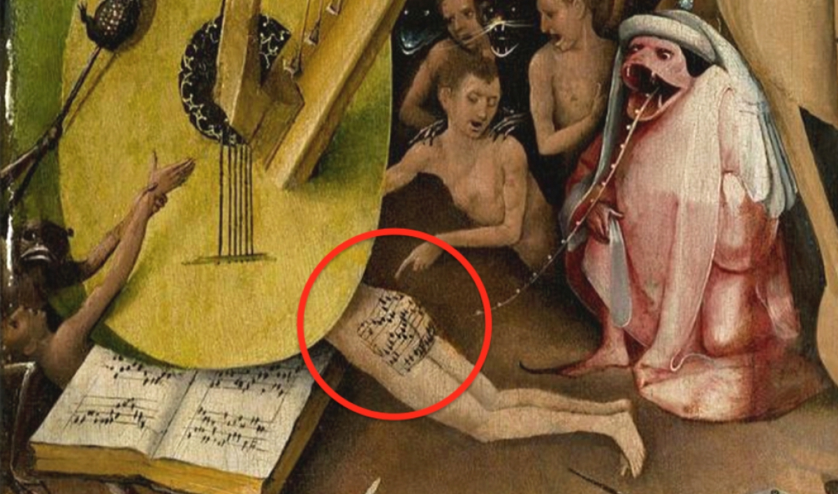 Man taking it up the ass in public Hieronymus Bosch Painted Sheet Music On A Man S Butt And Now You Can Hear It The World From Prx