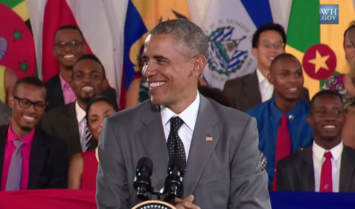 Obama Saying Wha Gwan Jamaica Has Already Become The Greatest