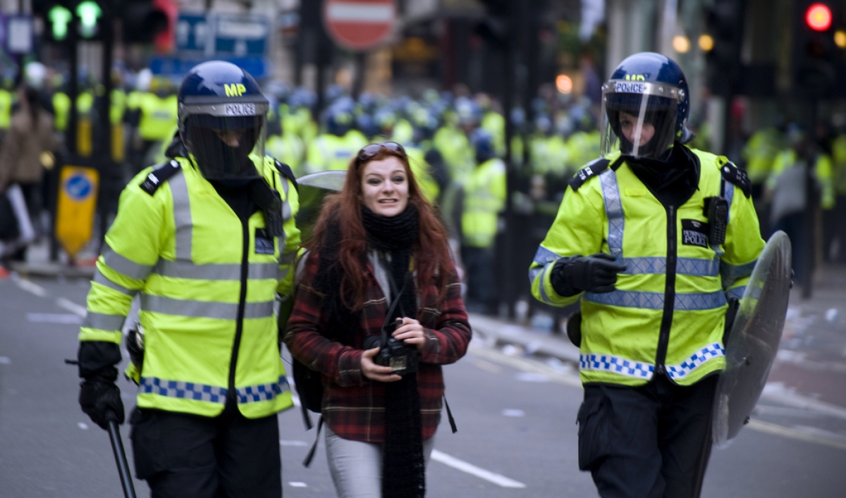how british police officers keep the peace  without