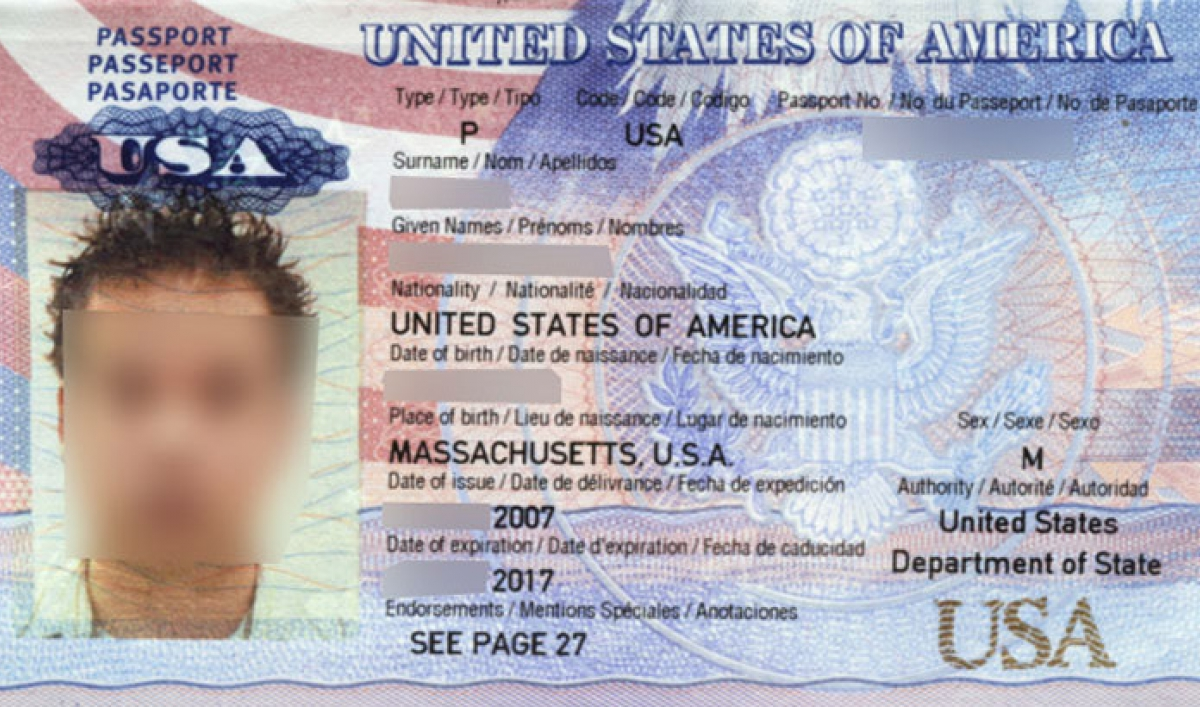 This American's passport ended up in the hands of ... - photo#46