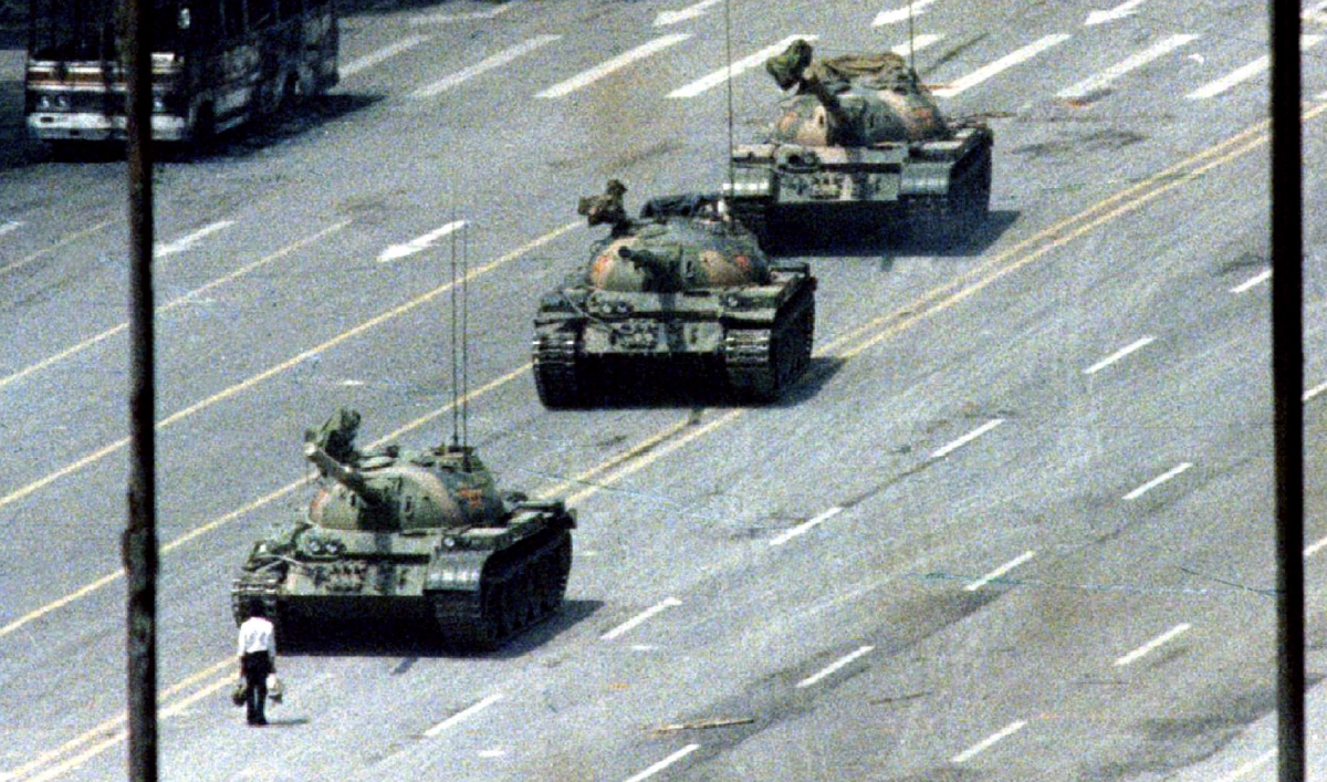 the tank man It seemed the tank man is a more iconic figure to foreigners than to the chinese, the censorship on this subject in china certainly contributed mostly to that.