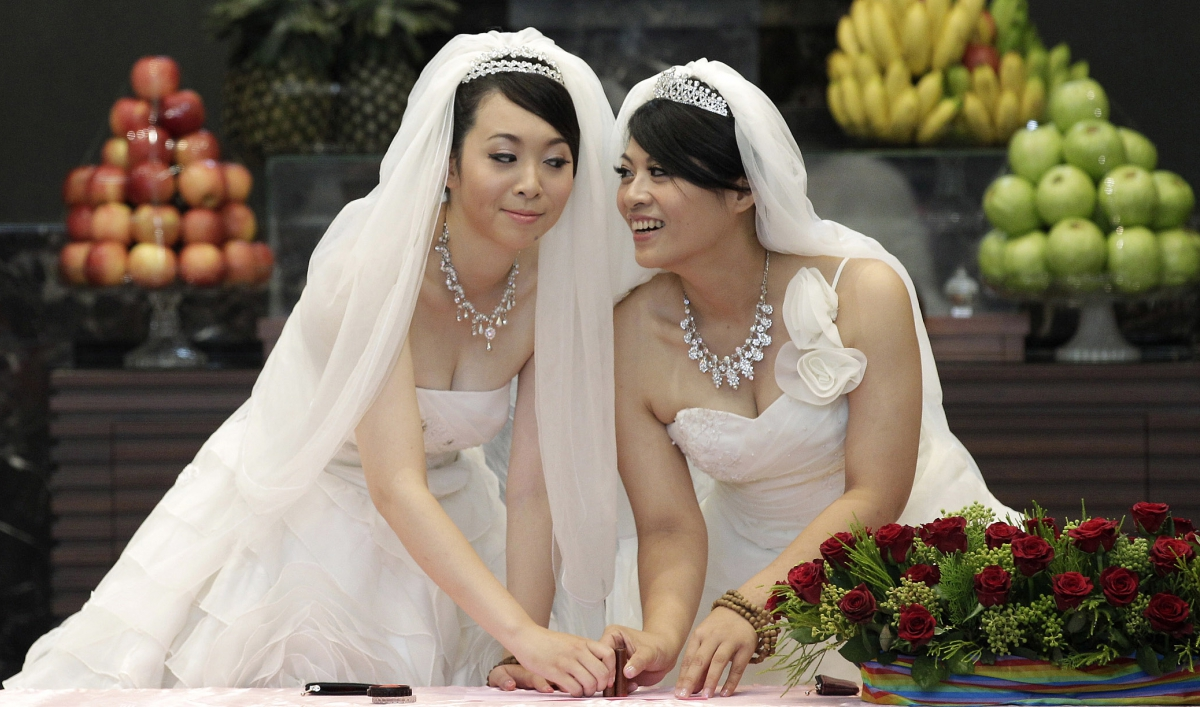 many in taiwan aim to make it the first asian country with same-sex