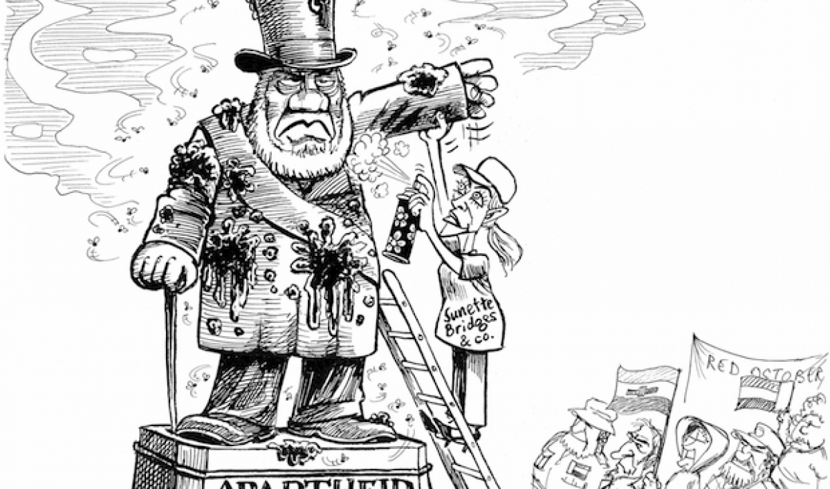 south african jonathan shapiro  aka zapiro  has cartooned for 20 years about how to deal with