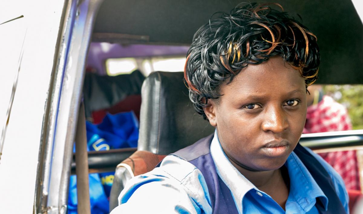 Margaret Wairimu Drives A Matatu A Minibus Taxi That Kenyans Take