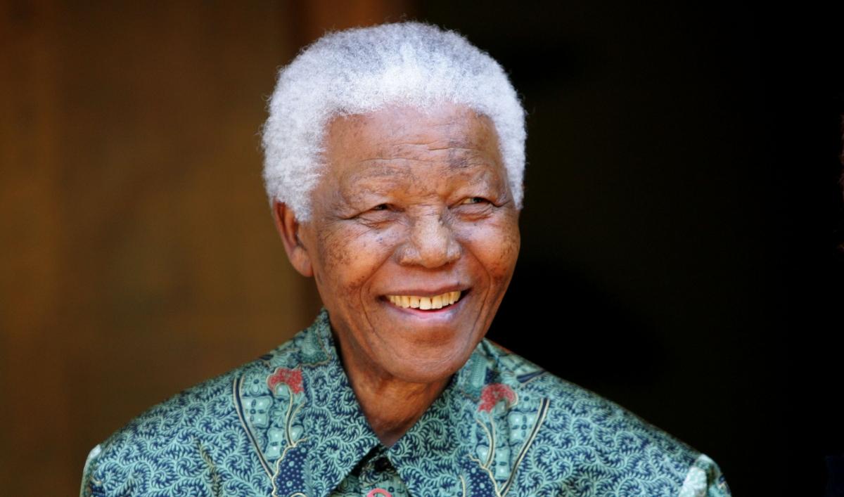 Nelson Mandela, South Africa's first black president in history