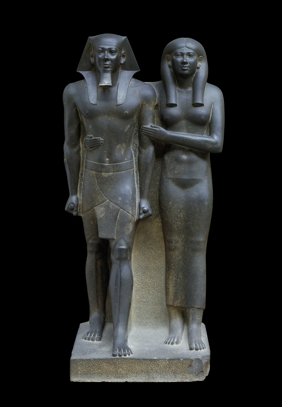 King Menkaura (Mycerinus) and Queen, 2490–2472 BC   Gallery 207
