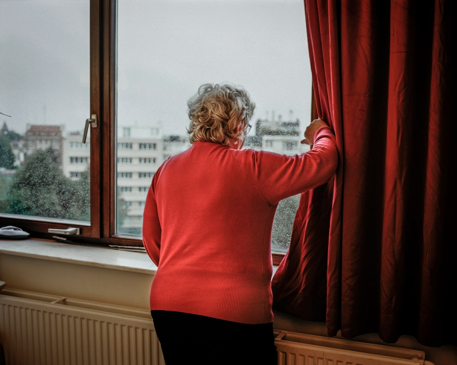 Chantal Dubois (name change for anonymity), 65, from Brussels, whose son left for Syria in 2012 and is still believed to be there. She is recovering from knee surgery in a hospital, where she only has sporadic access to the internet. Dubois has counseled 20 people about their children who have fled to Syria over the past two years. She fields phone calls from worried parents and social workers from a hospital bed in Brussels. She is growing exhausted and desperate for some news of her son. It has been three years since he left Brussels. She longs to know whether he is still alive.(Poulomi Basu/VII Mentor)