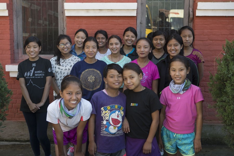 Girls in the Himalayan Children's Foundation running club in Kathmandu, Nepal say they're inspired by Mira Rai's success in sports.