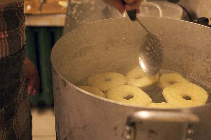 Boiling bagels in Yalta Restaurant, October 15, 2010.