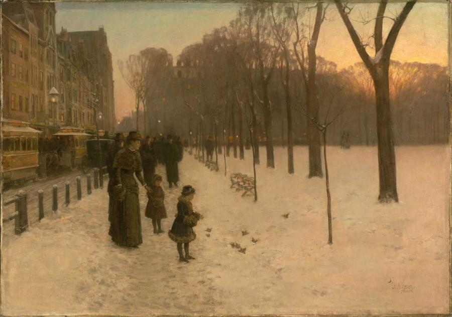 At Dusk (Boston Common at Twilight), Childe Hassam, 1885–86