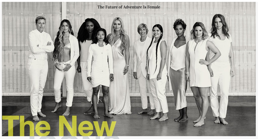 Mira Rai stands alongside nine other powerful women athletes for the May 2017 cover of Outside Magazine.