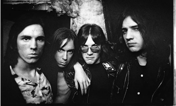 Iggy and The Stooges, with James Williamson at far left (Mick Rock)