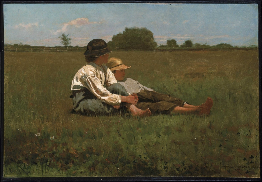 Boys in a Pasture, Winslow Homer, 1874