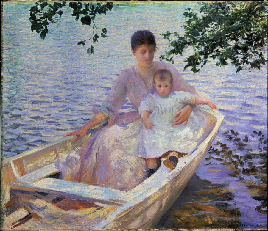 Mother and Child in a Boat, Edmund Charles Tarbell, 1892
