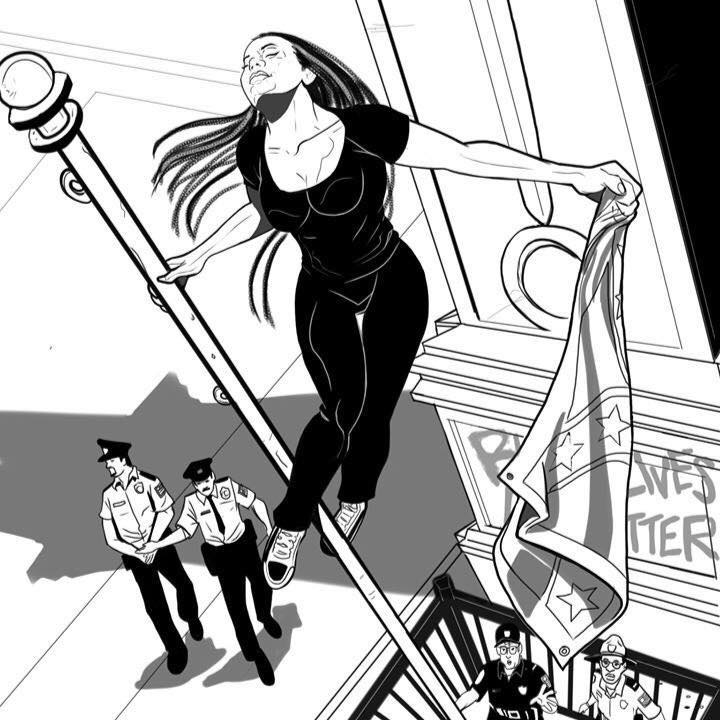 Bree Newsome illustrated by Quinn McGowan